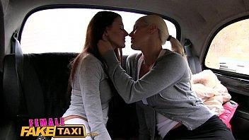 taxi fake tattoo blonde Lesbian sex oiled
