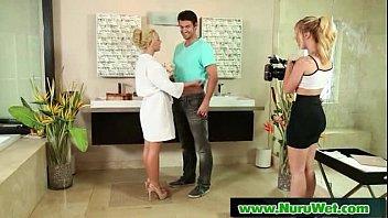 lesbian massage sexy nuru blonde has Tv prvate calls