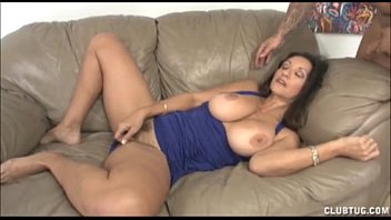 busty cum in milfs pussy Sitting with legs spread rubbing cunt in front of stepfather