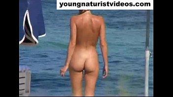 errection nude beach Taissia gets a hard cock treatment