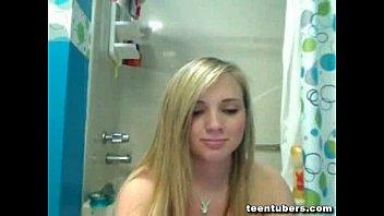 blonde cam shower at Gay sauna straight
