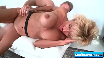 a stud cheats mature wife with Son touch her mom boobs whil sleeping