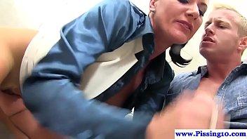 public spraying piss in Indian desi girls drinking boys toilet6
