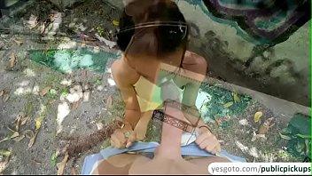 beach candid busty brunette Latina ts bbc