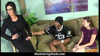 mom aon and small Japanese black men gangbang