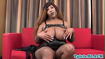 ebony shemale creampied Mallu aunty for money