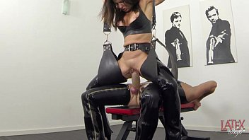 piss training and germanmistress dog Riding boots off