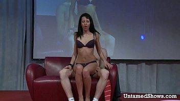 stripper cock stage Latex oil fights ben campizi vs xara piaz