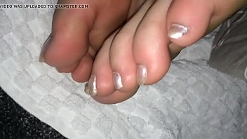and toe sucking candy Brother and step sister cum swallow