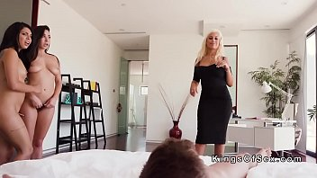 blackmailed threesome mom Mom forces son tp fuck her