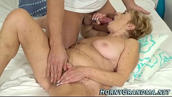 an granny the beach Son blackmail foul mother