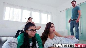lesbian slumber party Con su cuado