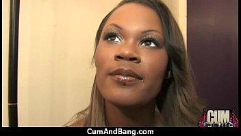 black pussy slut Big boob wife double anal bukkaki