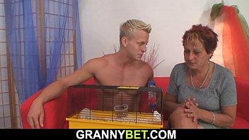 beach granny the an Gay voyeur jerks off